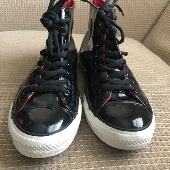 Converse Chuck Taylor All Star Unisex  Patent High Black Sneakers. Size13M /W15.